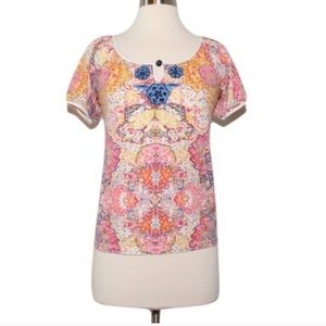 Anthropologie c Keer paisley print top
